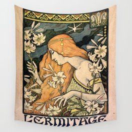 Vintage poster - L'Ermitage Wall Tapestry