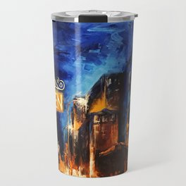 """Leaving New York"" Painting Travel Mug"