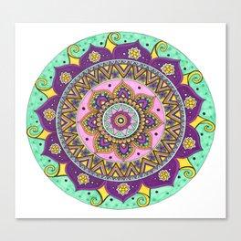 Tangled Mandala Art Canvas Print