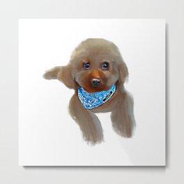 Poodle Dog Desain 001 Metal Print