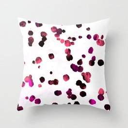 Grunge rose pink dirty confetti  Throw Pillow
