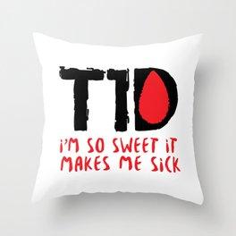 T1D Diabetic Diabetes Gift Throw Pillow
