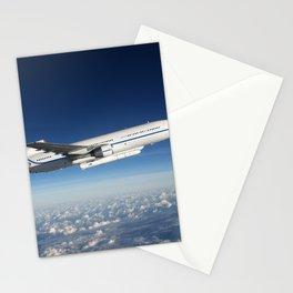 Orbital ATK L-1011 Stargazer aircraft flying over the Atlantic Ocean offshore from Daytona Beach Flo Stationery Cards