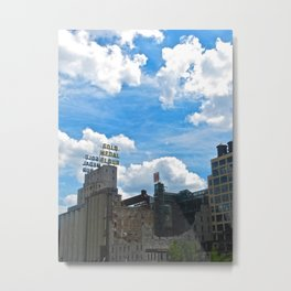 Minneapolis Ruins Metal Print
