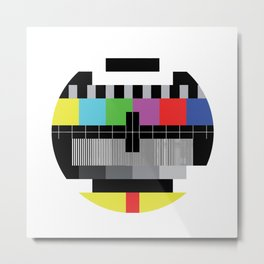 Mire - Testcard - Big Bang Theory Metal Print