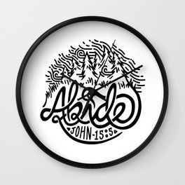 Abide Wall Clock