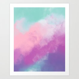Candy Clouds Art Print
