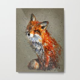 Fox background Metal Print