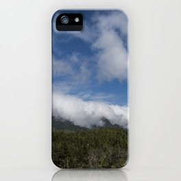 Clouds waterfall iPhone Case