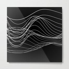 Lines // Waves Metal Print