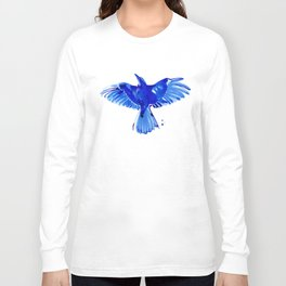 Blue bird wings Long Sleeve T-shirt