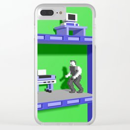 Inside Impossible Mission Clear iPhone Case