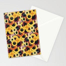 Sunflower Pattern Stationery Cards