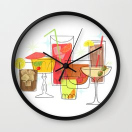 Swanky Summer Coolers Wall Clock