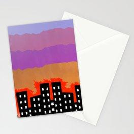 Sunset on the City Stationery Cards