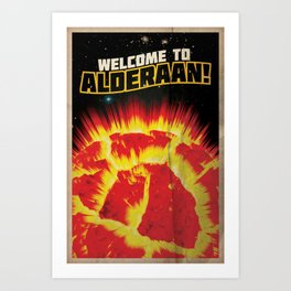 Welcome to Alderaan! | Defunct Planets Series No. 1 Art Print