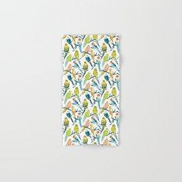 BOUNTIFUL BUDGIES Watercolor Parakeets Hand & Bath Towel