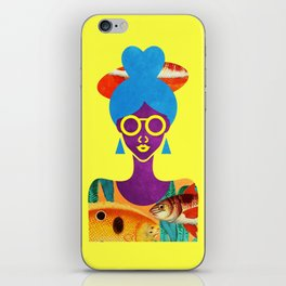 Girl with Sea Monster Shirt iPhone Skin
