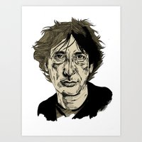neil gaiman Art Prints featuring Neil Gaiman by Andy Christofi