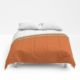 Aztec Orange and White Split Stripe Design Comforters