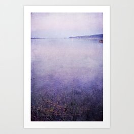 moon and lake stories 1 Art Print