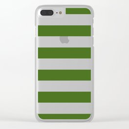 Simply Stripes in Jungle Green Clear iPhone Case