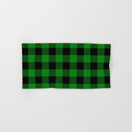 Green Buffalo Plaid Hand & Bath Towel