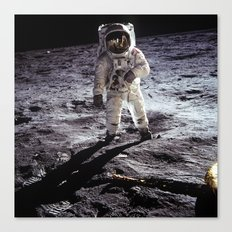 Buzz Aldrin on the Moon Canvas Print