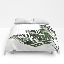 Tropical Exotic Palm Leaves I Comforters