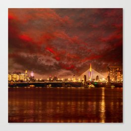 Boston Charles River Bridges Canvas Print