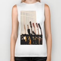 cleveland Biker Tanks featuring Guitars Cleveland DownTown by Dawn Marie
