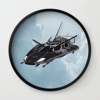 spaceship Wall Clocks featuring Spaceship by Design Windmill