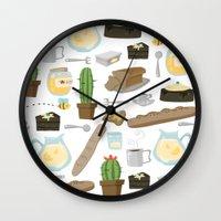 bread Wall Clocks featuring Bread by Ceren Aksu Dikenci