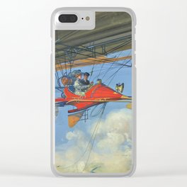 Vintage Aerostatic Cabriolet of Tomorrow Clear iPhone Case