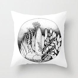 Cacti ink Throw Pillow