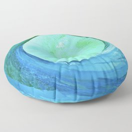 Abstract Planet 1431 Floor Pillow