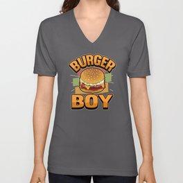 Funny Fast Food Burger Boy Saying Gift Unisex V-Neck