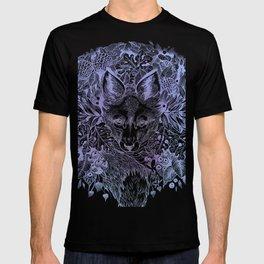 Pastel Purple Hiding Fox Drawing T-shirt