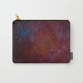 Space wood circles Carry-All Pouch