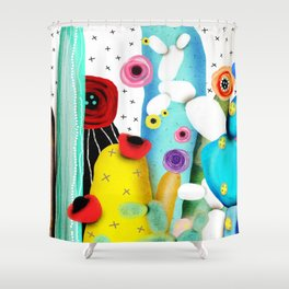 Cactus Mexico Shower Curtain