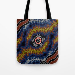 The Heart of Fire - Authentic Aboriginal Art Tote Bag
