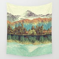 poetry Wall Tapestries featuring The Unknown Hills in Kamakura by Kijiermono