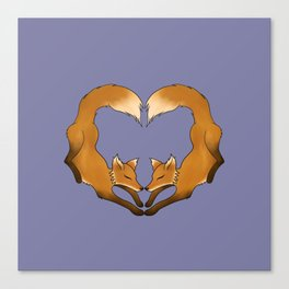 Heartful Foxes Canvas Print
