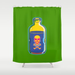 psychedelic poison bottle Shower Curtain
