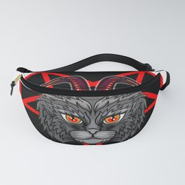 Evil cat furniture Design by diegoramonart Fanny Pack