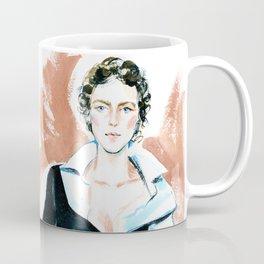 fashion #6. girl in a white shirt and black dress Coffee Mug