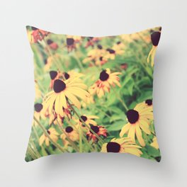 Rudbeckia - Cone Flower - JUSTART © Throw Pillow