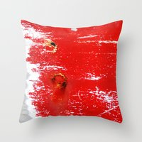 Scratches Throw Pillow