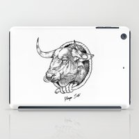 bull iPad Cases featuring Bull by Morgan Soto