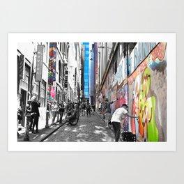 Melbourne's Hosier Lane Art Print